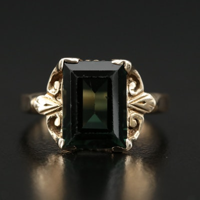 Vintage 10K Gold Spinel Ring