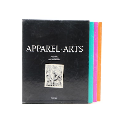 """""""Apparel Arts: Fashion is the News"""" Box Set with Slipcase, 1989"""