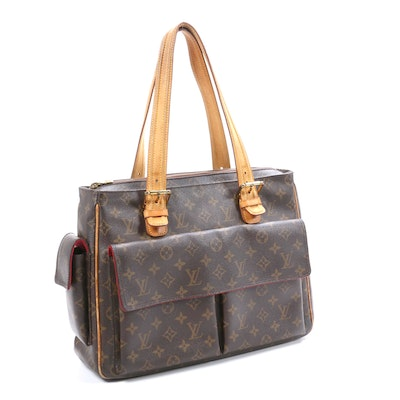 Louis Vuitton Multipli Cite Shoulder Bag in Monogram Canvas and Vachetta Leather