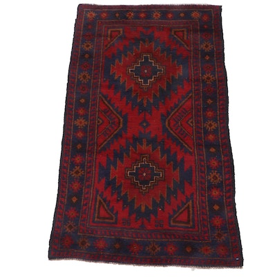 2'11 x 4'11 Hand-Knotted Afghani Tribal Baluch Rug