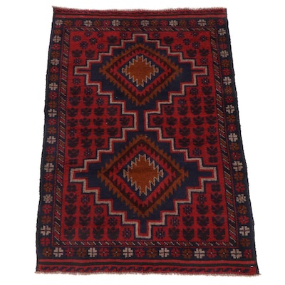3'0 x 4'5 Hand-Knotted Afghani Tribal Baluch Rug