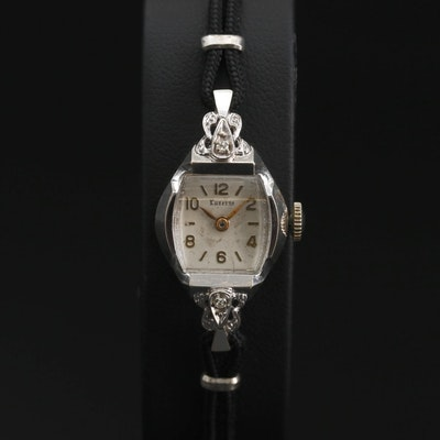 14K and Diamond Luzerne Stem Wind Wristwatch