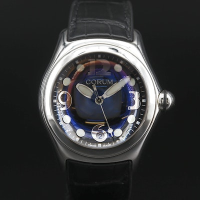 Corum Bubble Stainless Steel Quartz Wristwatch