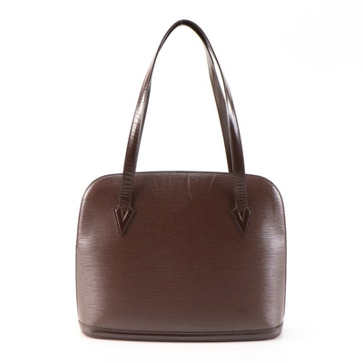 Louis Vuitton Lussac Shoulder Bag in Moka Epi Leather