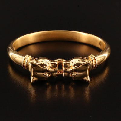 Milor Electroformed 14K Panther Head Bangle Bracelet