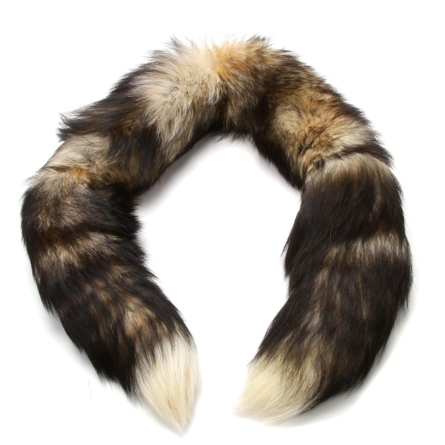Linked Fox Tail Fur Stole