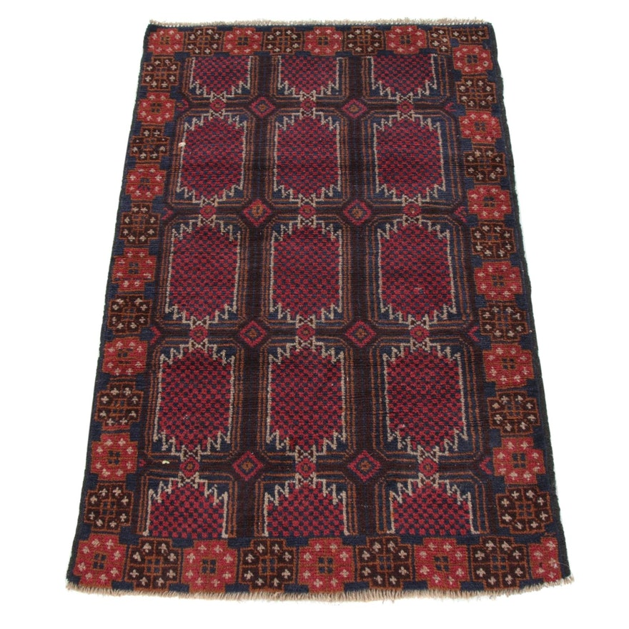 3'1 x 4'9 Hand-Knotted Afghani Turkoman Rug, 2000s