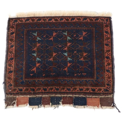 2'1 x 2'3 Hand-Knotted Afghani Tribal Baluch Rug