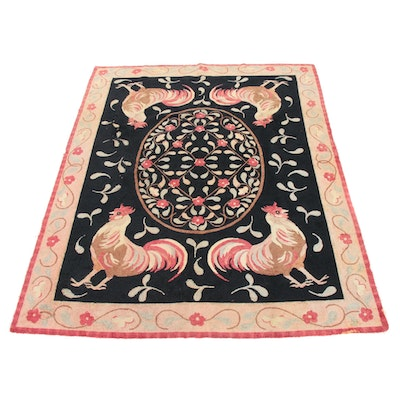 7'4 x 9'4 Company C Hand-Hooked Chinese Wool Blend Pictorial Rug, 2000s