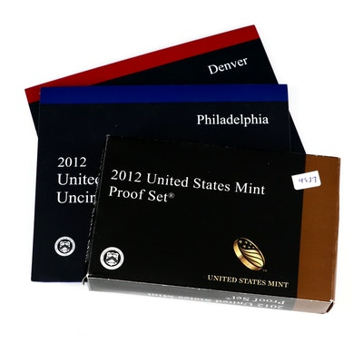 2012 US Mint Proof and Uncirculated Coin Sets.
