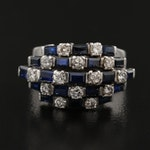 Vintage 14K Diamond and Sapphire Ring