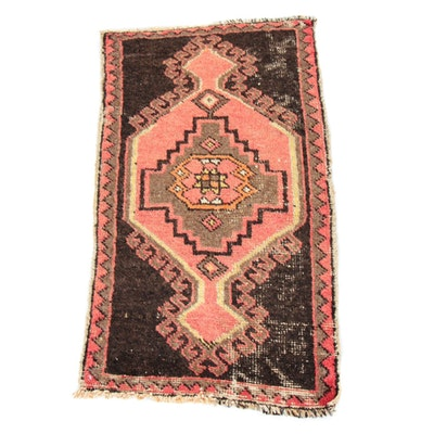 1'9 x 3'4 Hand-Knotted Turkish Village Rug, 1930s