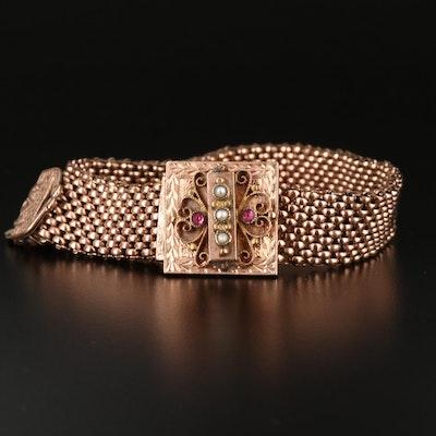 Victorian Seed Pearl Slide Bracelet