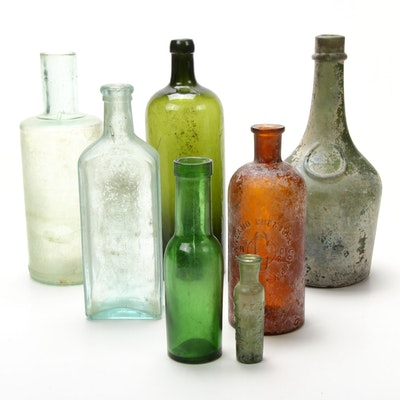 Antique Libations, Spirits and Apothecary Bottles