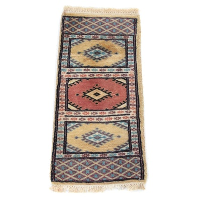 1'0 x 2'2 Hand-Knotted Pakistani Caucasian Rug, 2000s
