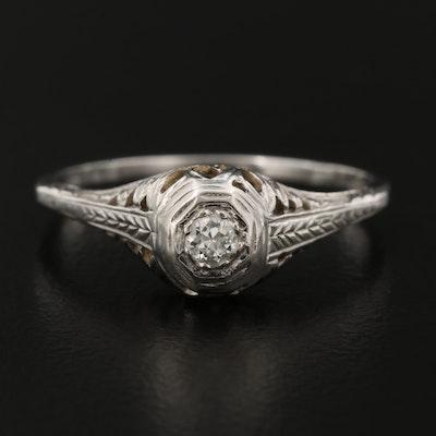 Edwardian 18K and Diamond Ring