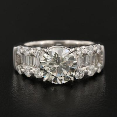 Platinum and 3.05 CTW Diamond Engagement Ring