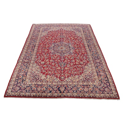 9'10 x 14'4 Hand-Knotted Indo-Persian Tabriz Room Sized Rug, 2000s