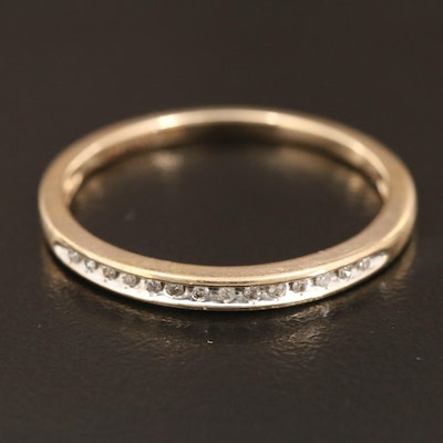 10K Yellow Gold Diamond Channel Band
