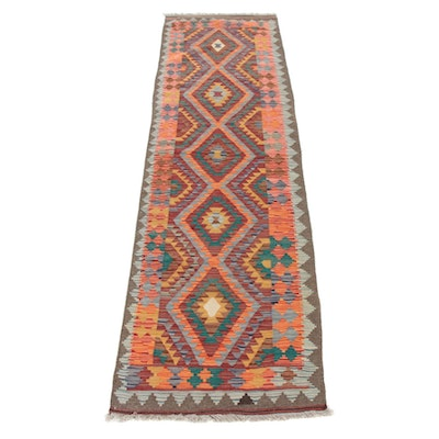2'10 x 10'2 Handwoven Turkish Caucasian Runner Rug, 2010s