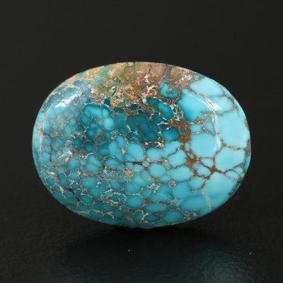 Loose 10.45 CT Oval Cabochon Turquoise