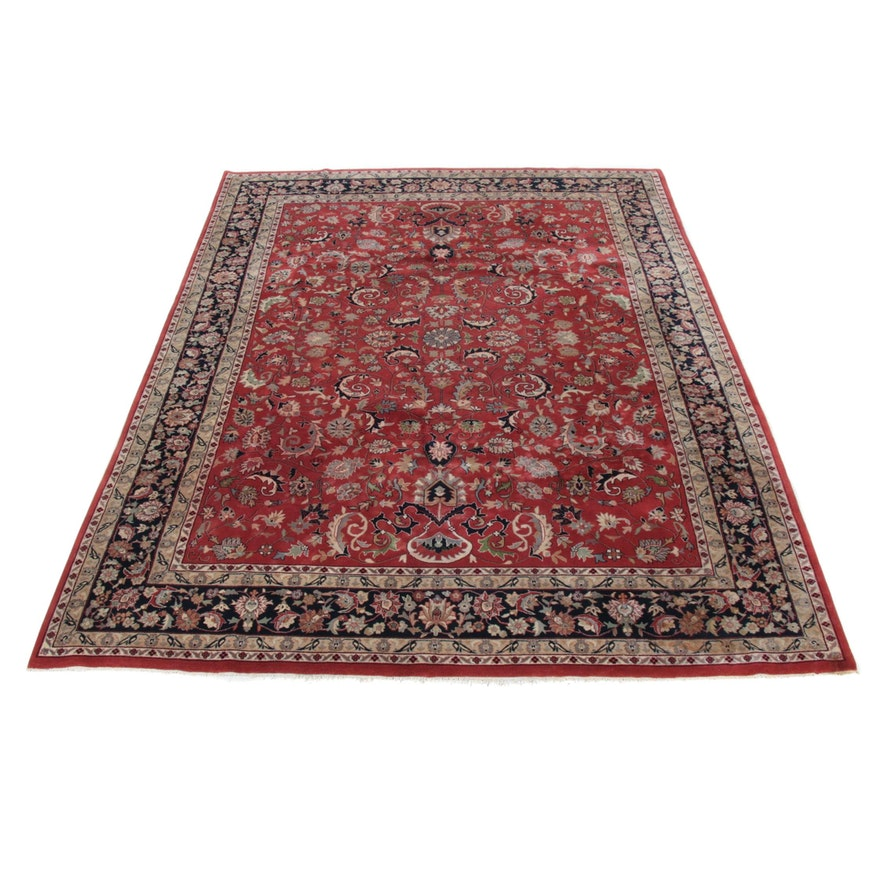 9'1 x 12'1 Hand-Knotted Indo-Persian Tabriz Room Sized Rug, 2000s