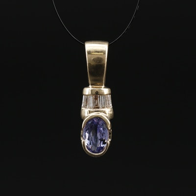 14K Tanzanite and Diamond Pendant