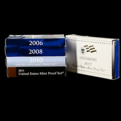 Five Modern US Mint Proof Sets
