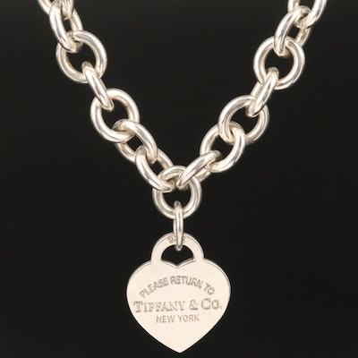"Tiffany & Co. ""Return to Tiffany"" Sterling Heart Tag Necklace"