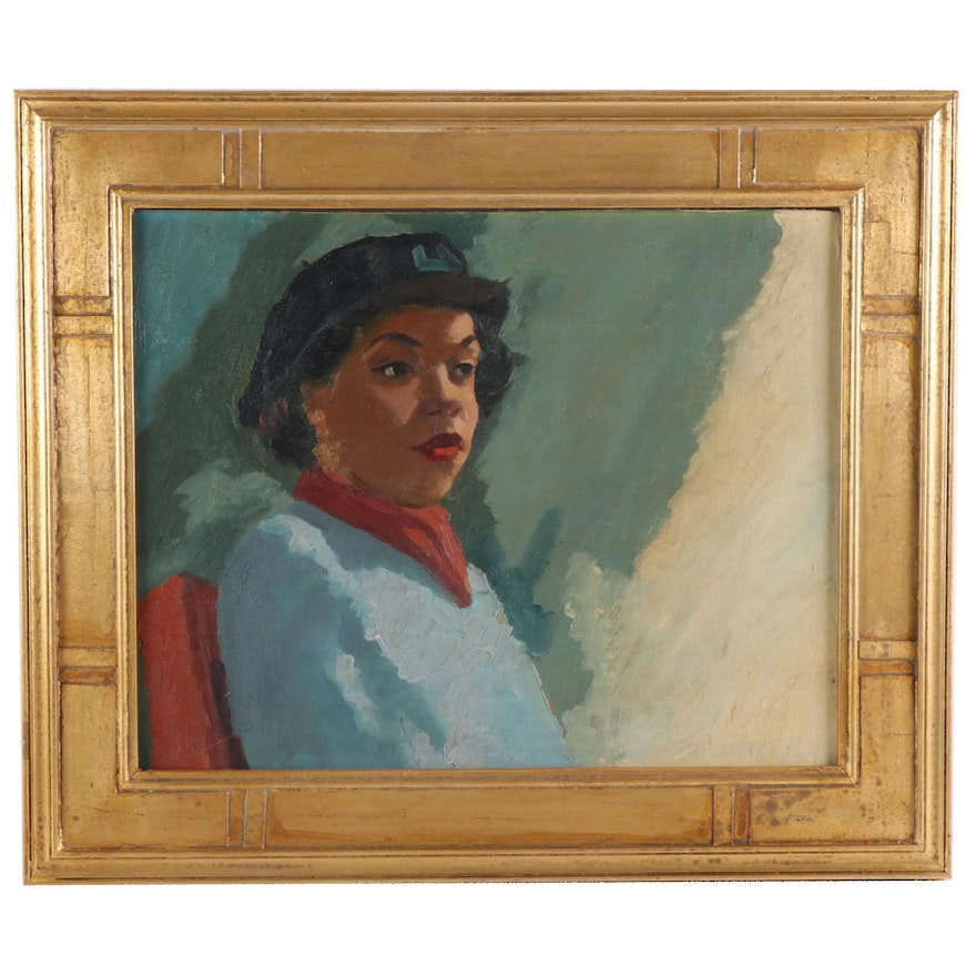 Oil Painting Portrait of Chloe Anthony Wofford (Toni Morrison)