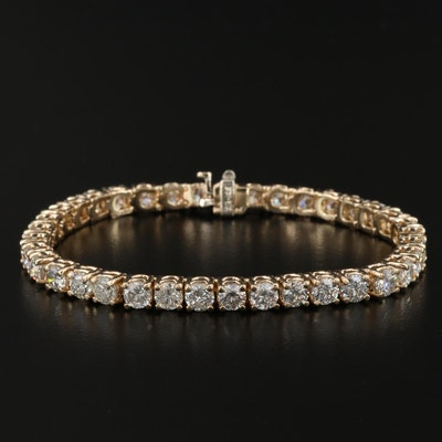 14K Gold 12.46 CTW Diamond Tennis Bracelet