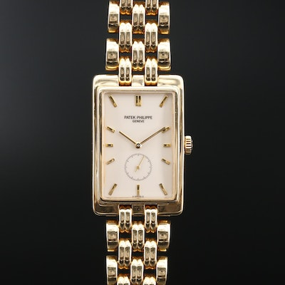 Vintage Patek Philippe Gondolo Ref.5009 18K Gold Stem Wind Wristwatch