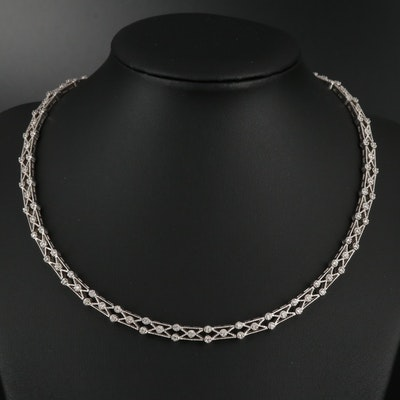 14K Gold 2.08 CTW Diamond Choker Necklace