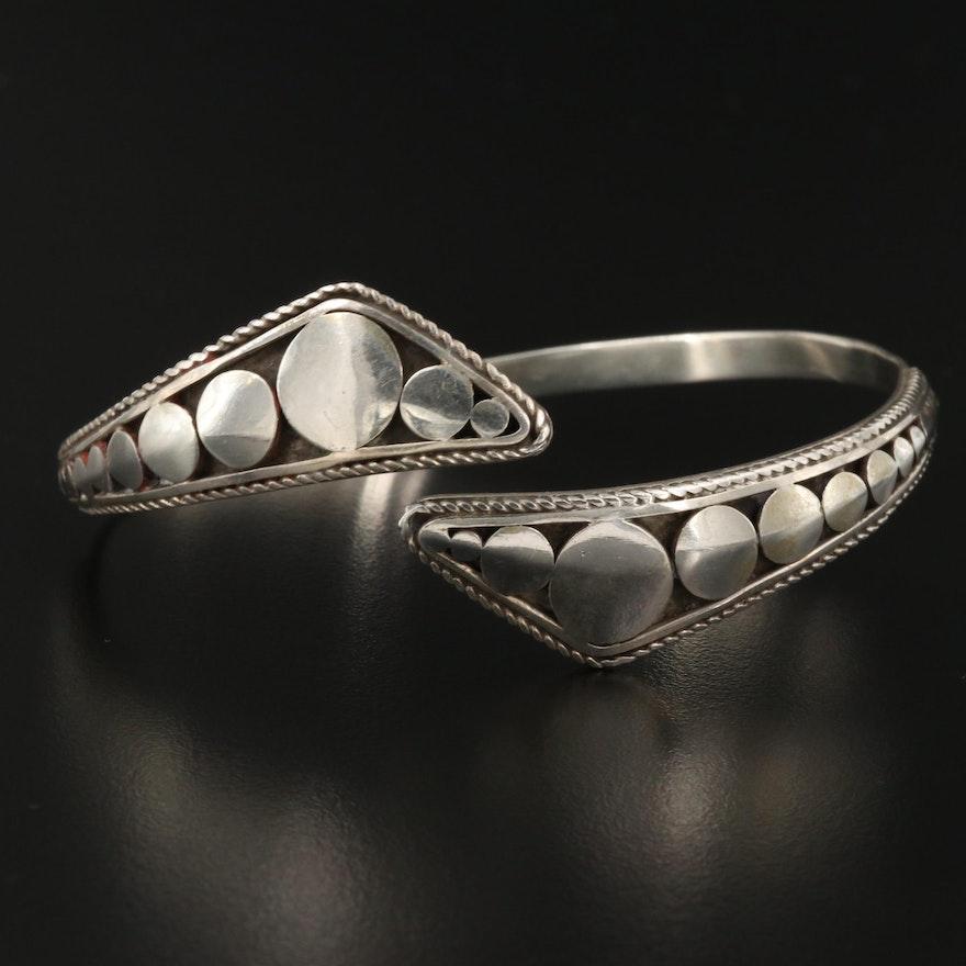 Sterling Silver Dot Bypass Bracelet