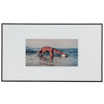 "David Whitman Color Photograph of Male Figure in Ocean  ""Golfinho"""