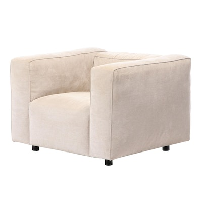 Ligne Roset Modernist Style Upholstered Track Arm Club Chair