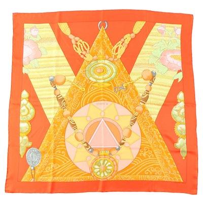"""Hermès """"Tibet II"""" Silk Scarf"""