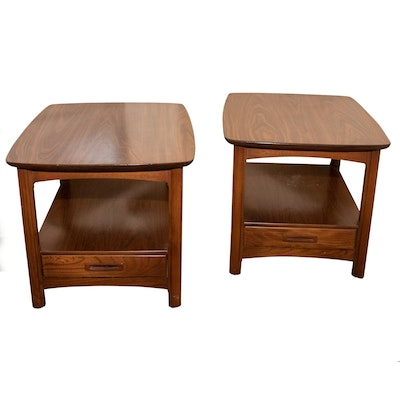 Pair of Leuger's Mid Century Modern End Tables