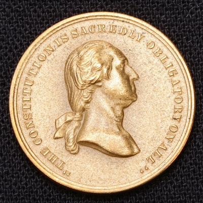 "1861 (Restrike) George Washington ""Oath of Allegiance"" Medal, 20th Century"