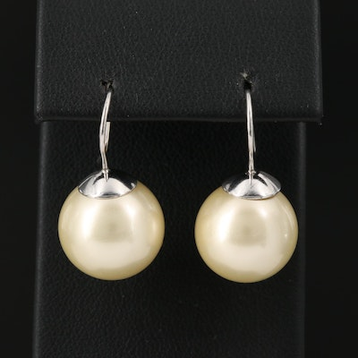Sterling Silver Faux Pearl Earrings