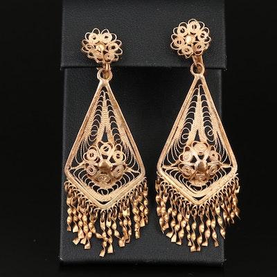 Wirework Chandelier Dangle Earrings