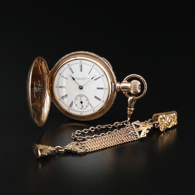 1894 Illinois Watch Co. For Aman & Crane, Dayton Gold Filled Pocket Watch