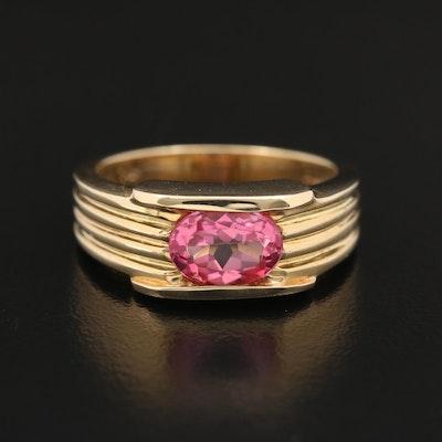 14K Topaz Ring