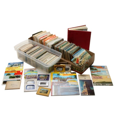 Travel and Tourism Souvenir Postcards, Photos, Maps and Ephemera