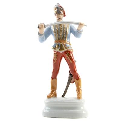 "Herend ""Hadik Hussar"" Hand-Painted Porcelain Figurine"