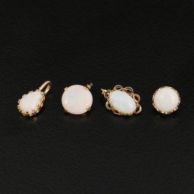 14K Opal Pendants