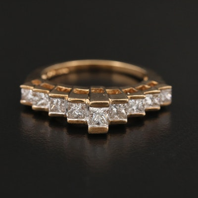 10K Gold 1.00 CTW Diamond Stepped Ring