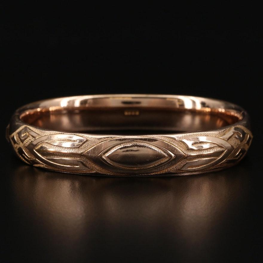 Motif Hinged Bracelet