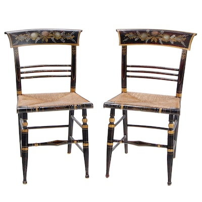 American Federal Paint-Decorated Fancy Chairs, Early 19th Century