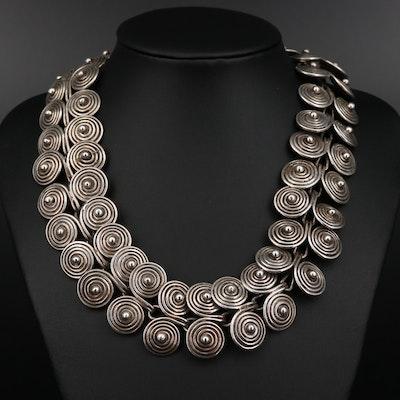 Mexican Los Castillo Sterling Silver Necklace
